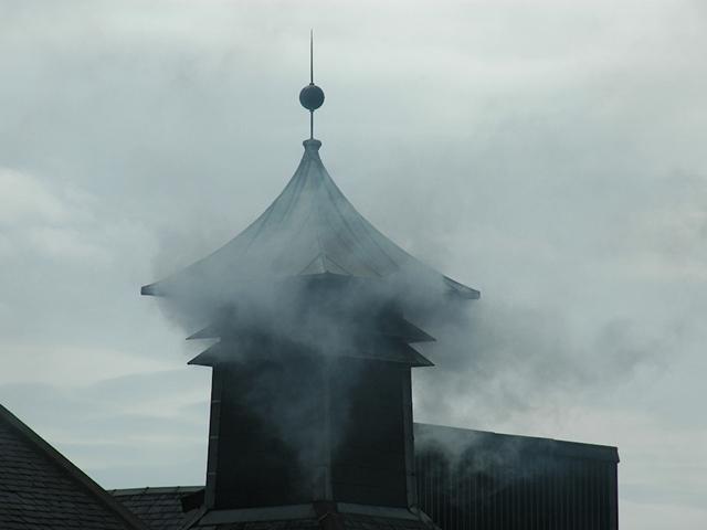 smoking-laphroaig-kiln-pagoda