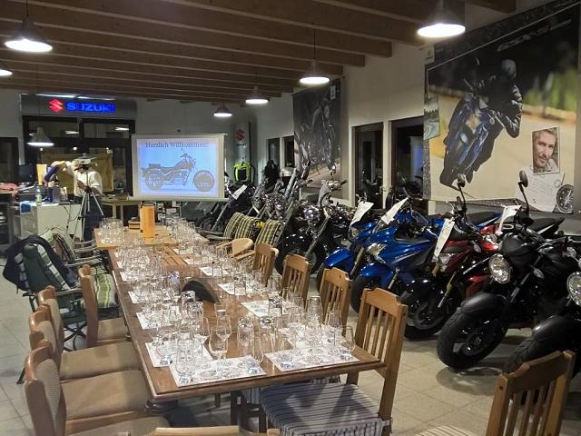 Whiskyverkostung Motorrad Leipzig Haage