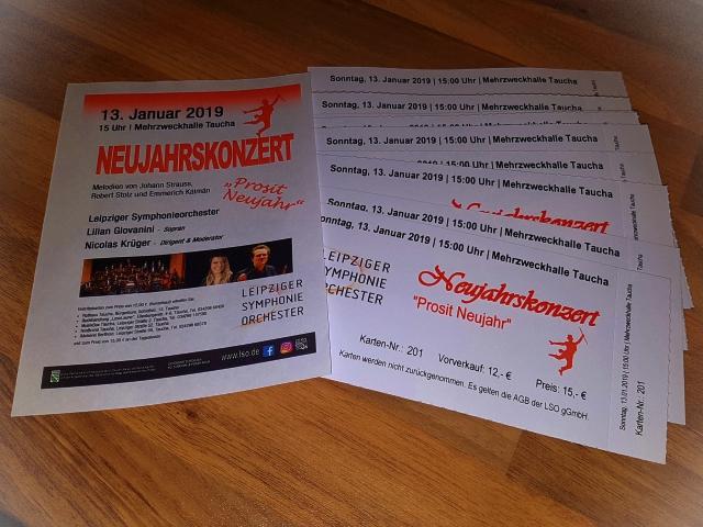Eintrittskarten Neujahrskonzert Taucha