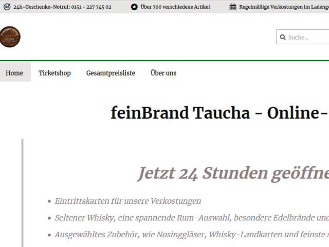 feinBrand Online-Shop